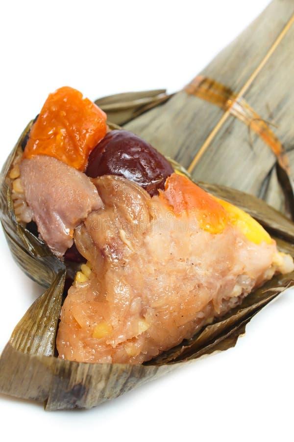 米饺子、zongzi或者bakcang。 免版税库存图片