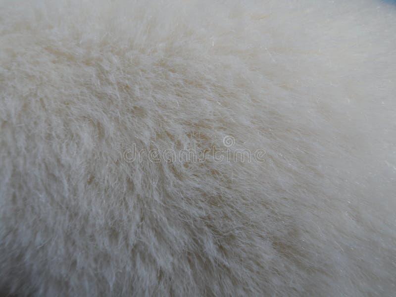 米黄假毛皮背景长毛绒纹理 库存照片