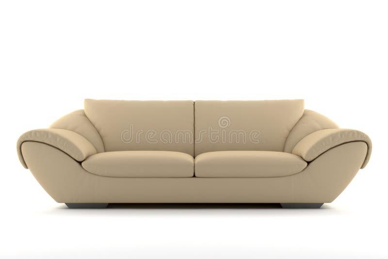 米黄查出的沙发白色 免版税图库摄影