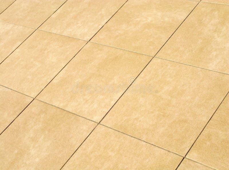 米黄楼层马赛克正方形 免版税图库摄影