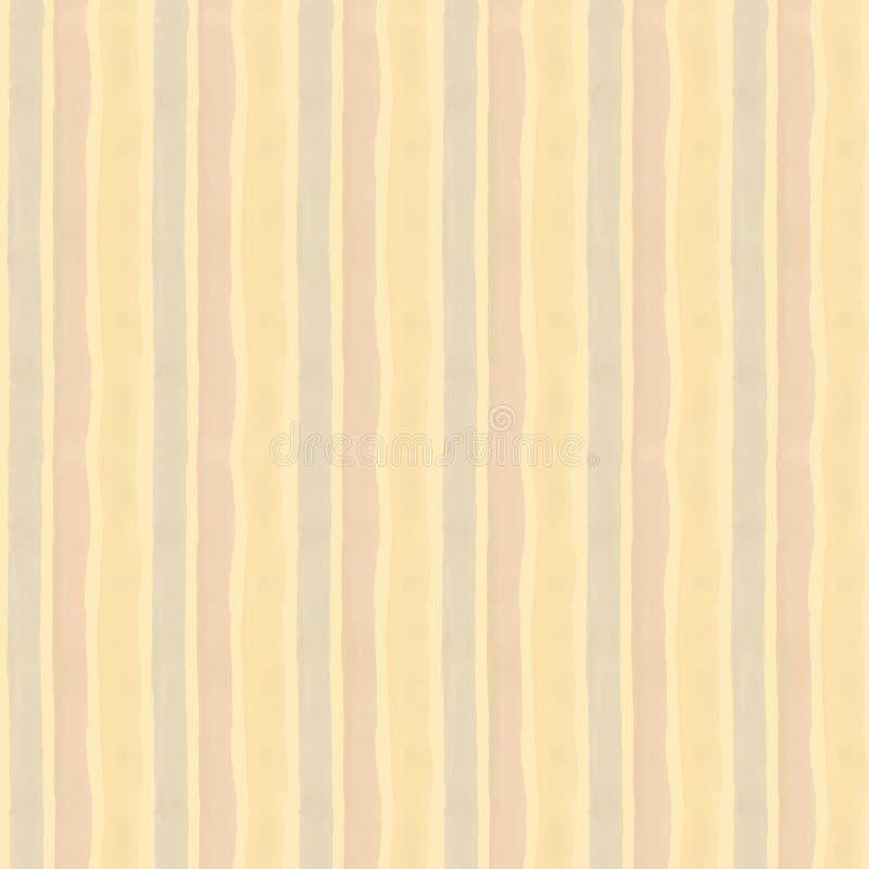 米黄水彩背景-无缝的纸纹理 模式 向量例证
