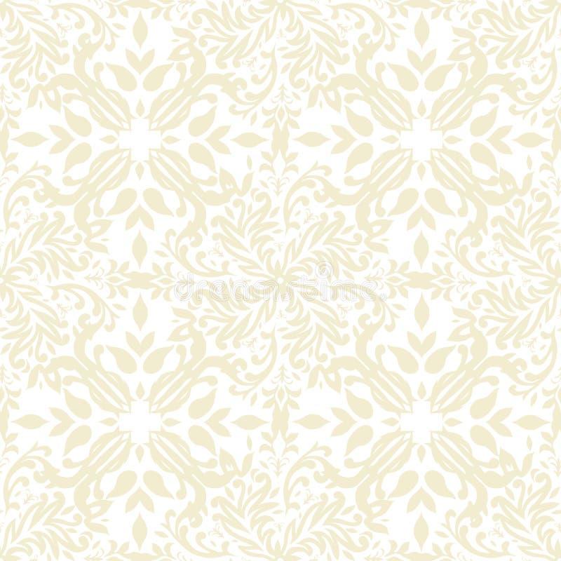 米黄花卉重复 免版税库存图片
