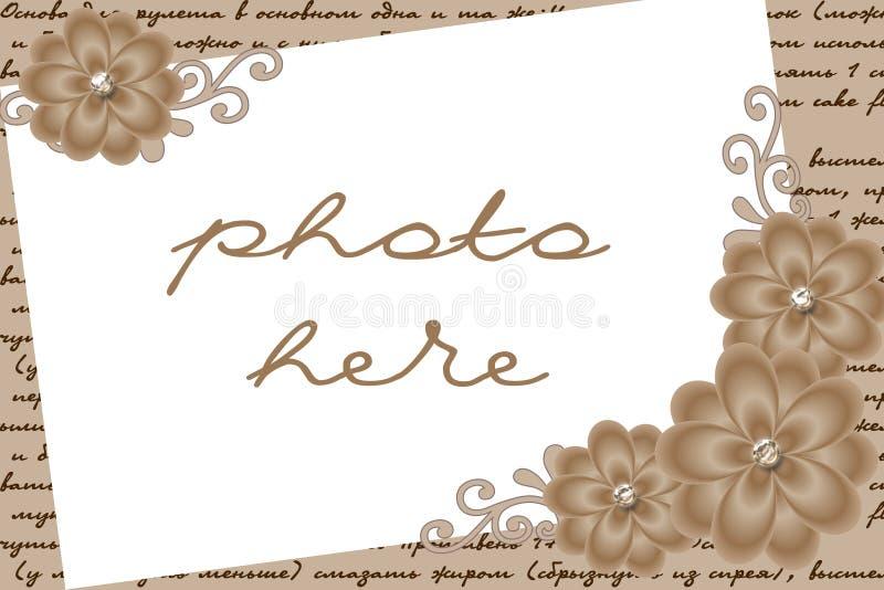 米黄边界照片 向量例证