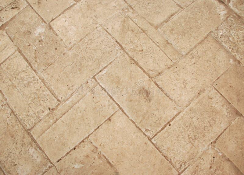 米黄陶瓷砖 免版税库存照片