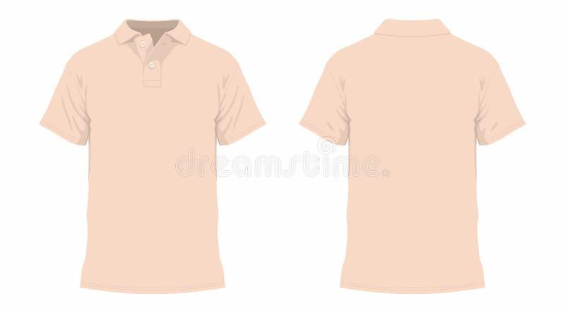 米黄T恤杉 向量例证