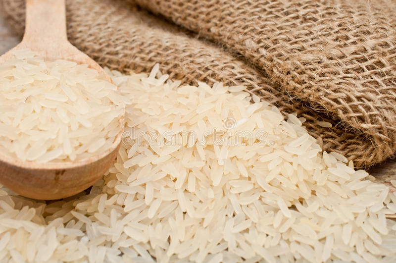 米从和木匙子 免版税图库摄影