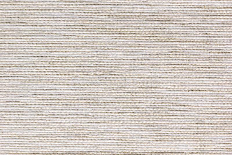 米黄纹理布料 有肋骨帆布 图库摄影
