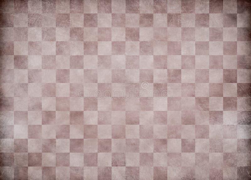 米黄老方格的纸背景 免版税库存照片