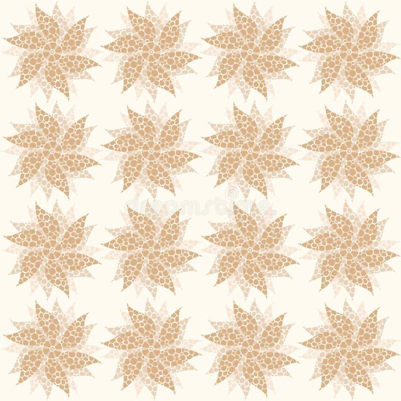 米黄葡萄酒花,无缝的装饰品 向量 库存例证
