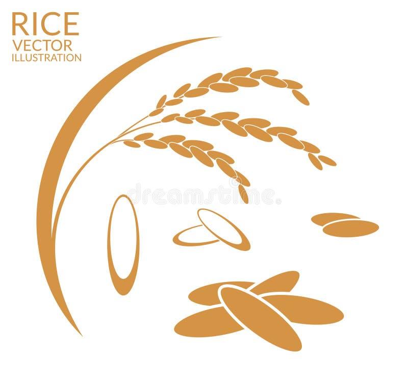 米 集合 向量例证