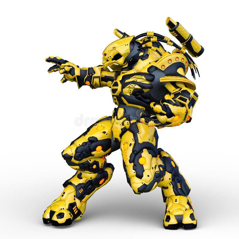 类人动物3D CG翻译  向量例证