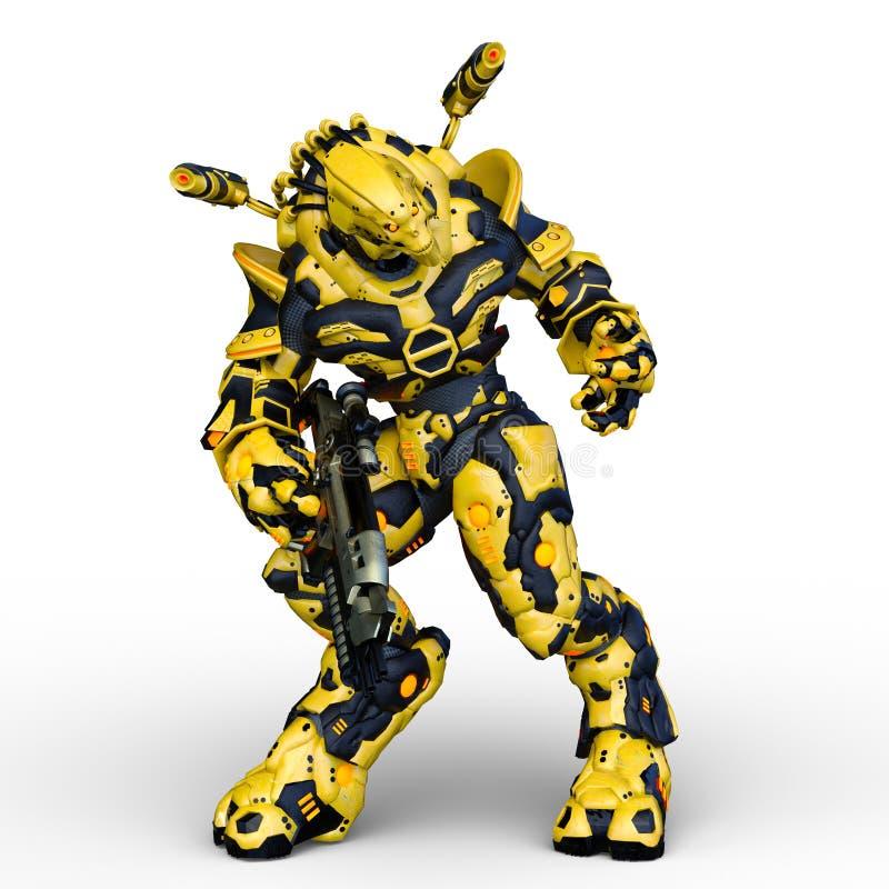 类人动物3D CG翻译  库存例证