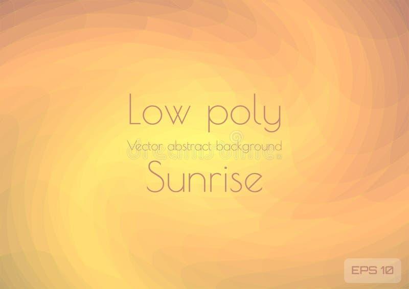 类似朝阳或超新星,星系的诞生的低多淡桔色的抽象背景 ?? 向量例证