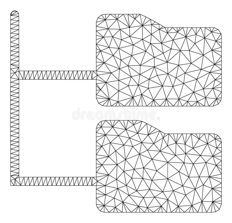 类别文件夹树多角形框架传染媒介滤网例证 向量例证