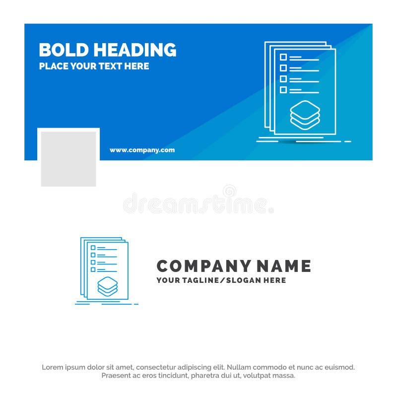 类别的蓝色企业商标模板,检查,名单,目录,标记 r r 向量例证