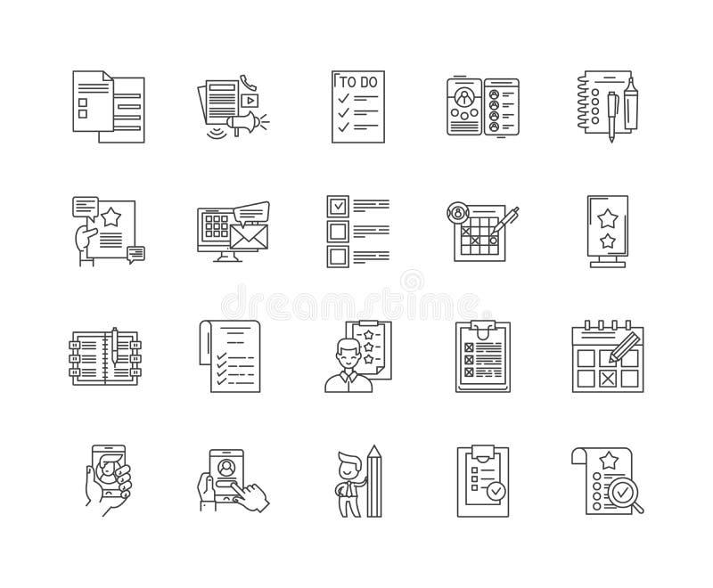 类别线象,标志,传染媒介集合,概述例证概念 库存例证