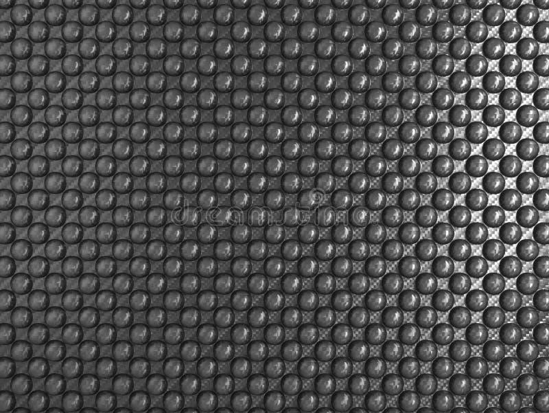 粉刺碳纤维纹理 库存例证
