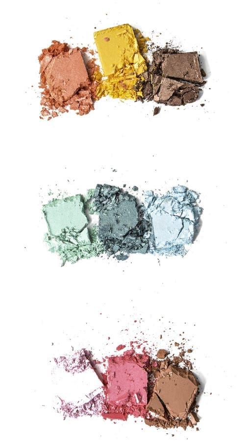 粉末构成被击碎的三重奏 免版税库存图片