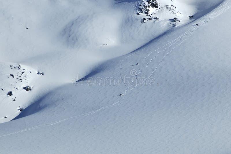 粉末滑雪雪 库存照片