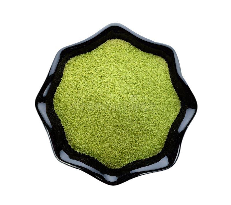 粉末绿茶 图库摄影