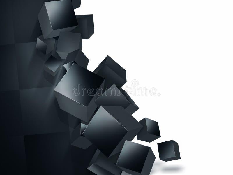 粉碎的墙壁 向量例证