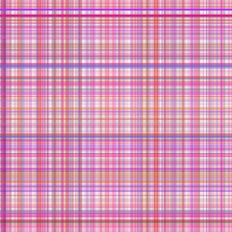 粉红彩笔多彩多姿的条纹格子花呢披肩 皇族释放例证