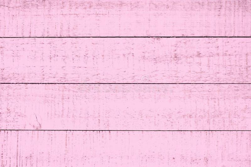 粉红彩笔木头背景 难看的东西,板条 库存照片