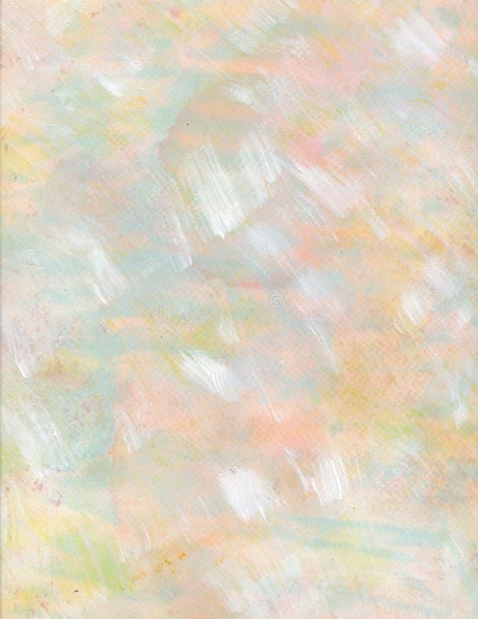 粉红彩笔黄色蓝色水彩背景 库存例证