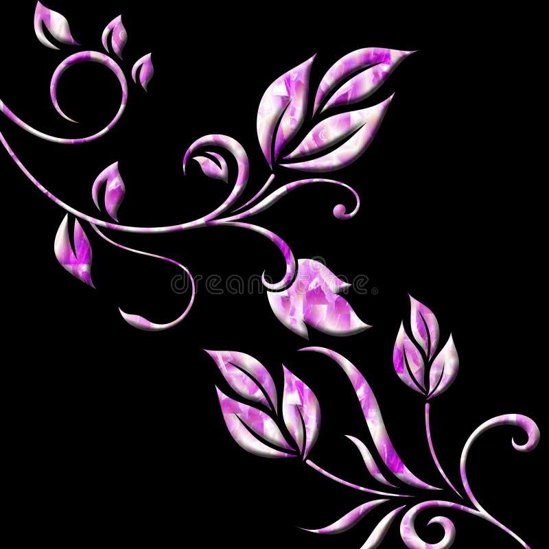 粉红色漩涡 库存例证