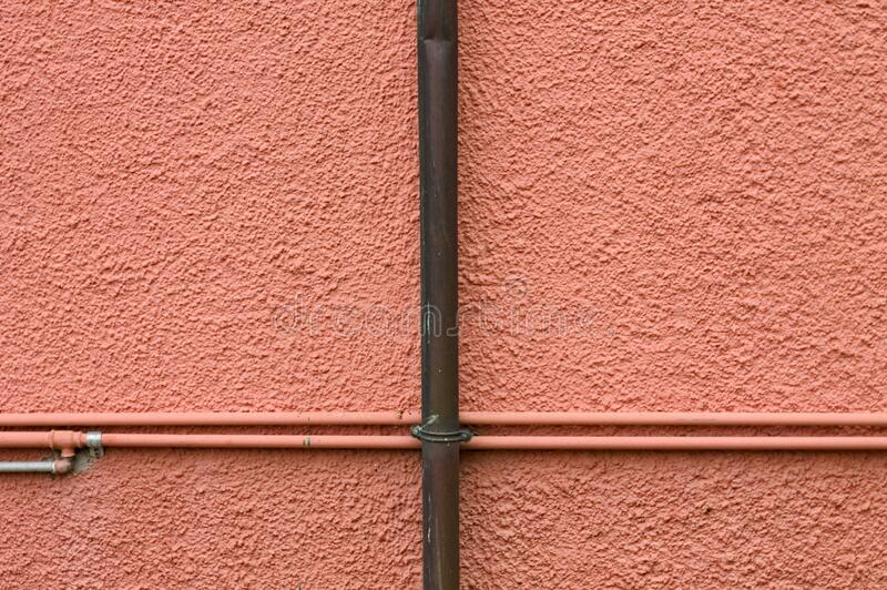 粉色墙,夹着小管,意大利,欧洲 库存照片