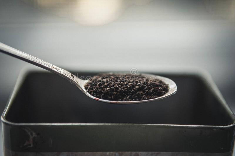 粒子烘干红茶 免版税库存照片