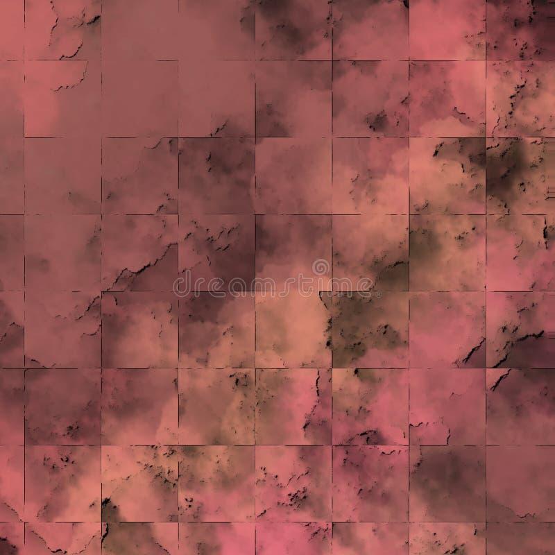 粗砺的补丁构造了表面 难看的东西表面 墙壁织地不很细拼贴画 库存例证