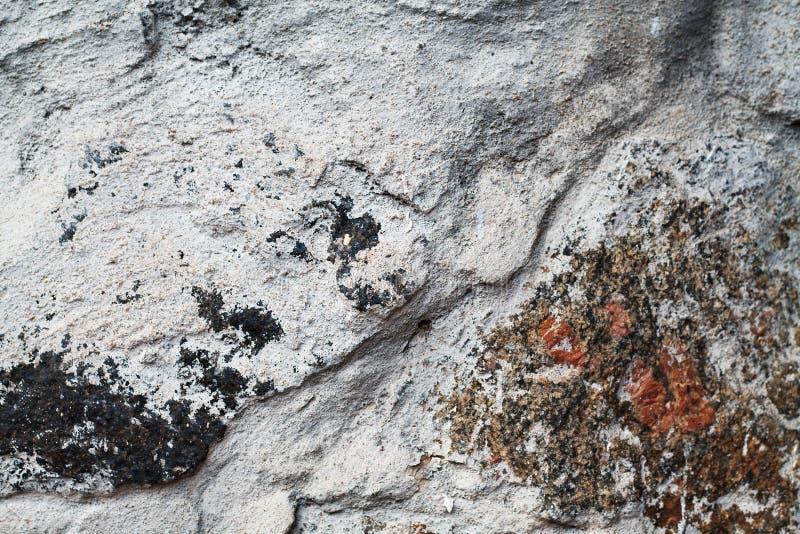粗糙的灰色自然石纹理 库存例证