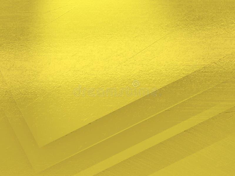 粗糙的金黄背景纹理  库存例证
