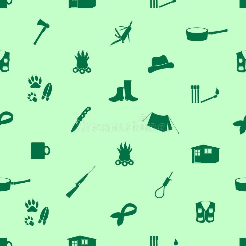 黑粗鲁的人象无缝的绿色样式 皇族释放例证