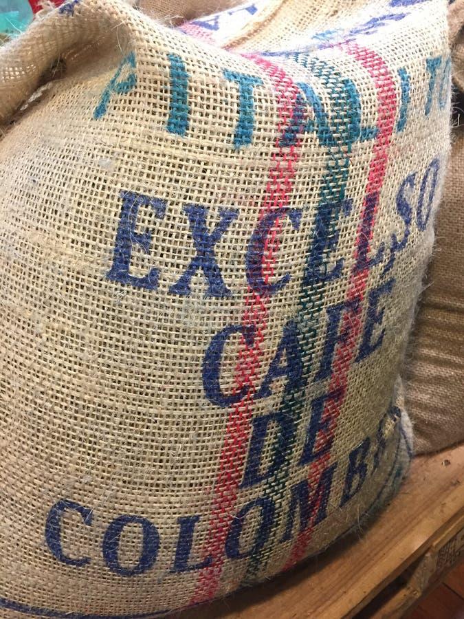 粗麻布咖啡袋 免版税库存图片