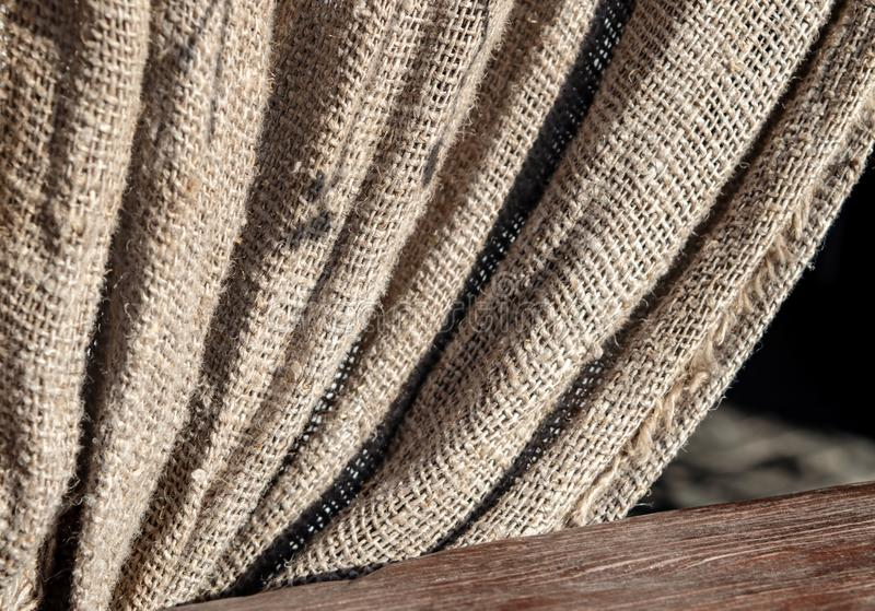 粗麻布天然纤维纹理纺织品好日子 免版税库存图片