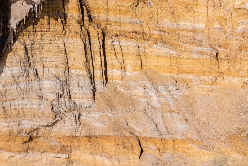 粘土自然本底切除了海岸 图库摄影