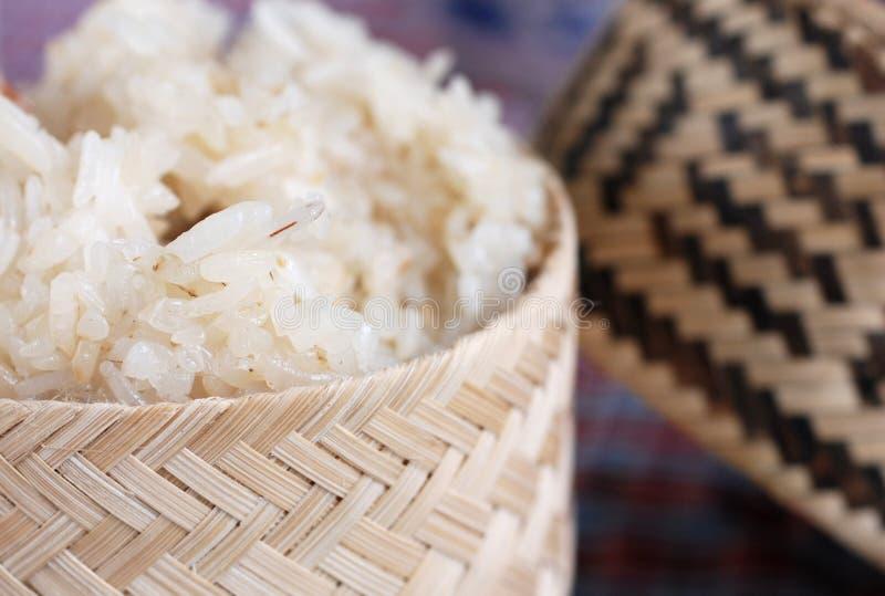 粘性老挝人米 免版税库存图片