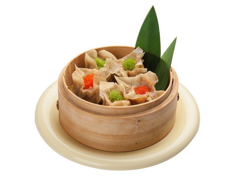 粤式点心用猪肉和虾 图库摄影