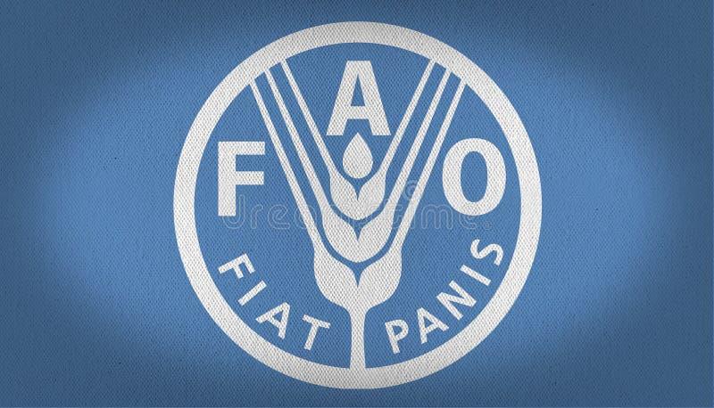 粮食与农业组织旗子 皇族释放例证