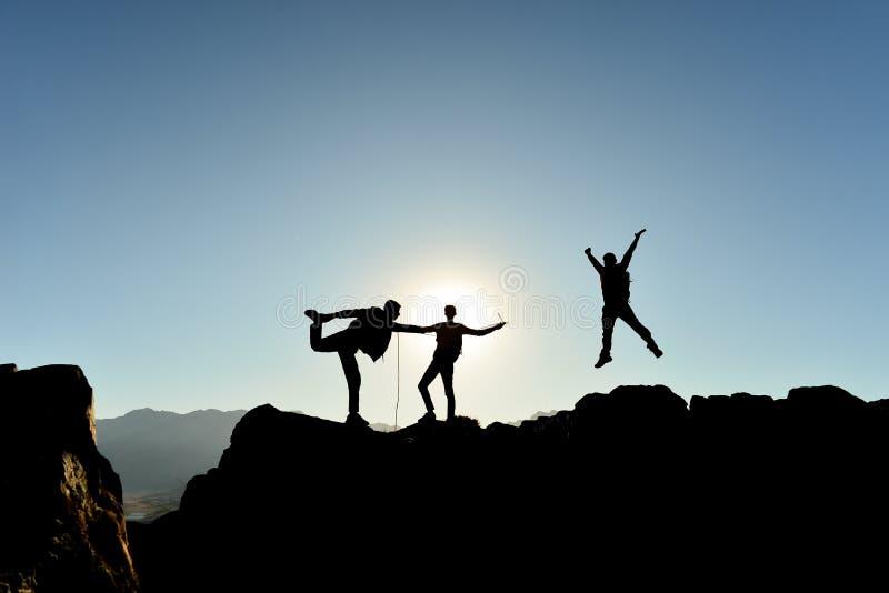 精力充沛,动态和成功的人民 免版税库存照片