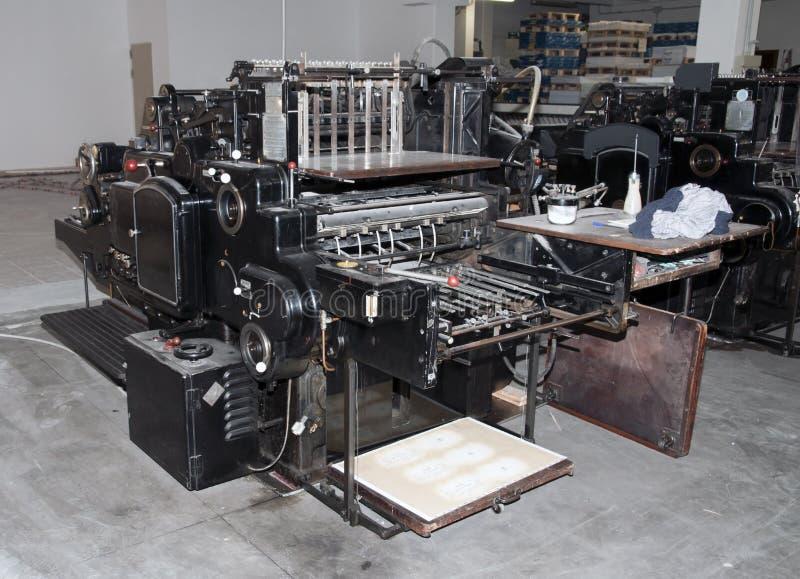 精加工机床老打印 库存图片