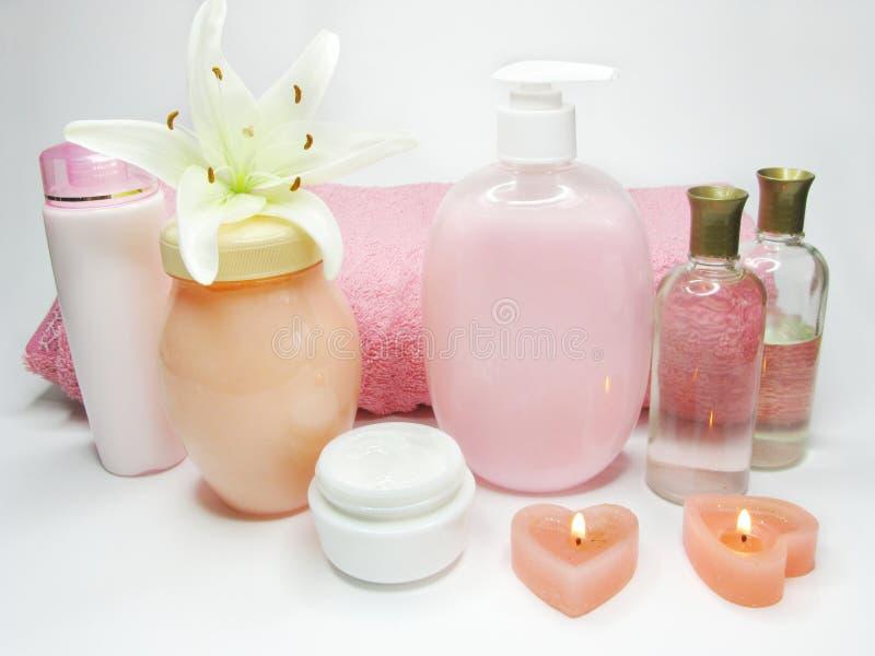 精华头发液体屏蔽肥皂温泉补剂 库存照片