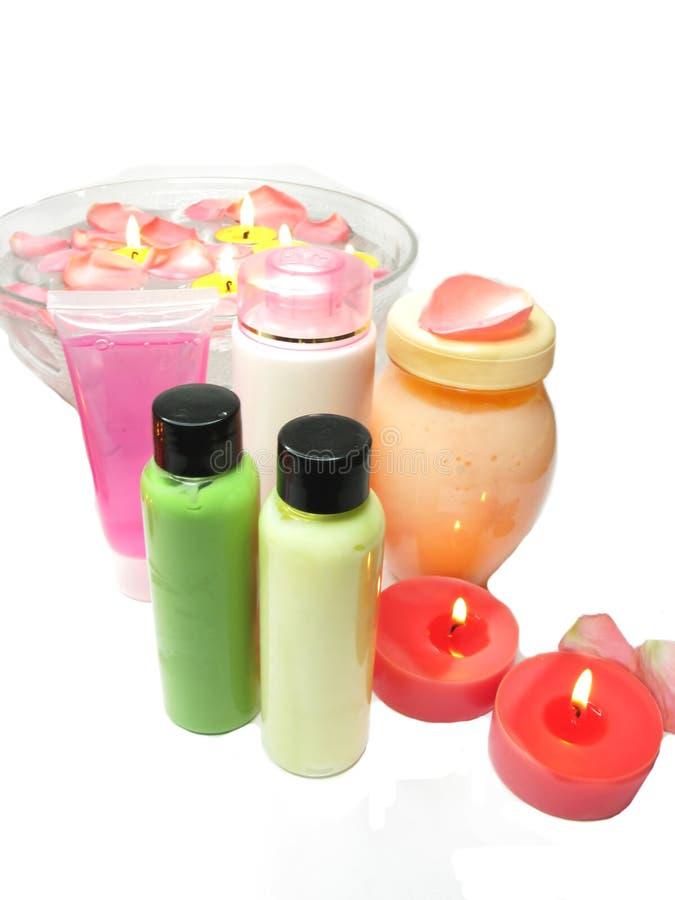 精华头发液体屏蔽肥皂温泉补剂 免版税库存图片