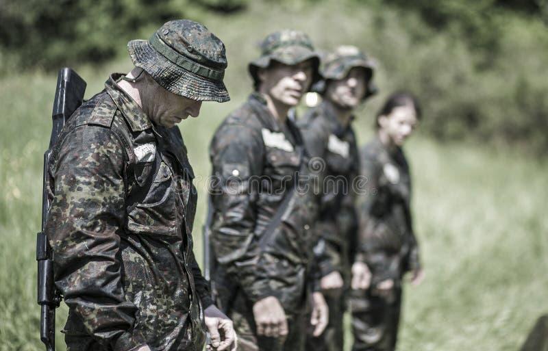 精华挑战军事traning的节目 库存照片