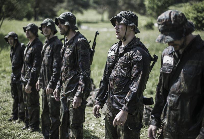 精华挑战军事traning的节目 免版税图库摄影