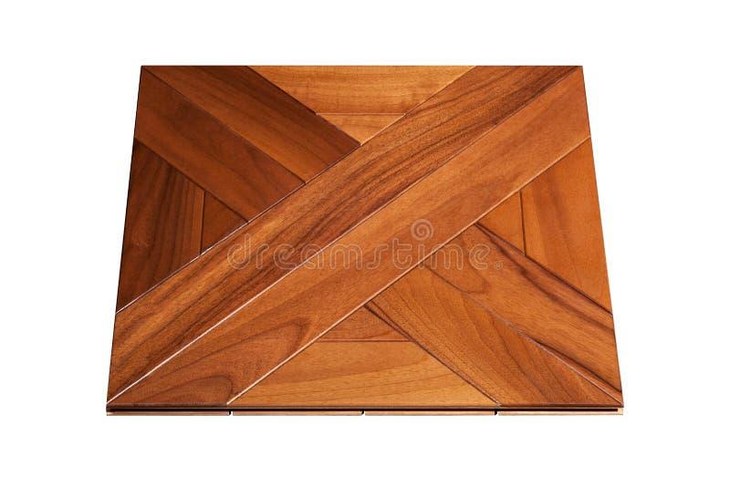 精华模件木条地板 与豪华纹理和样式的自然木地板 在被隔绝的白色背景的等轴测图 图库摄影