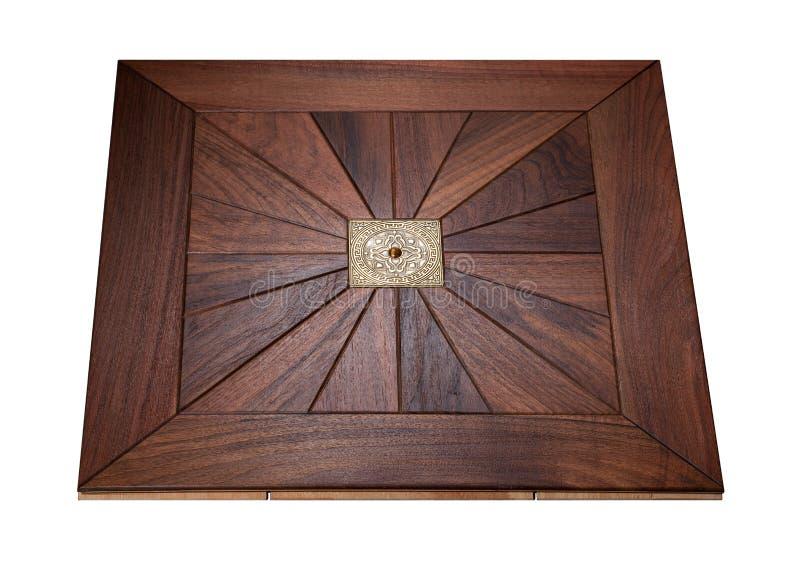 精华模件木条地板 与豪华纹理和样式的自然木地板 在被隔绝的白色背景的等轴测图 免版税库存图片