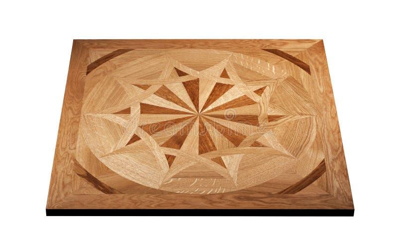 精华模件木条地板 与豪华纹理和样式的自然木地板 在被隔绝的白色背景的等轴测图 库存图片